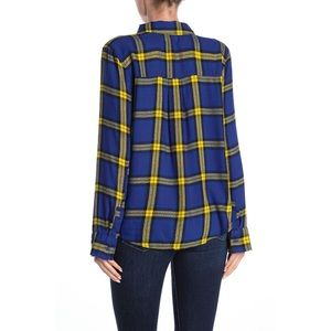 NEW ABOUND / NORDSTROM / PLAID BUTTON UP TOP